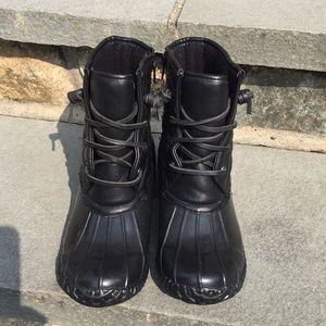 Steve Madden Black Duck Boots Women's Size 5